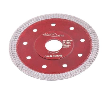 vidaXL Disque de coupe diamanté avec trous Acier 115 mm[2/4]