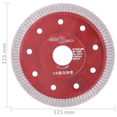 vidaXL Disque de coupe diamanté avec trous Acier 115 mm[4/4]
