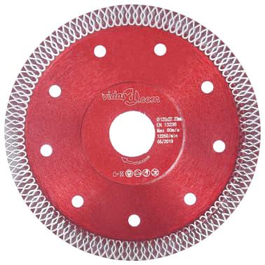 vidaXL Disque de coupe diamanté avec trous Acier 125 mm[1/4]