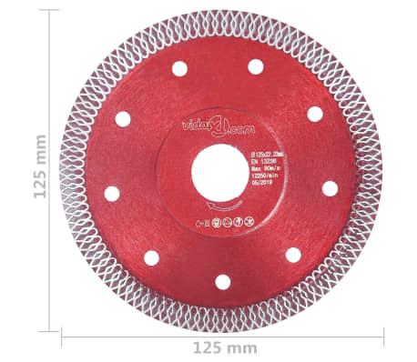 vidaXL Disque de coupe diamanté avec trous Acier 125 mm[4/4]