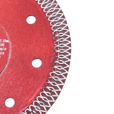 vidaXL Disque de coupe diamanté avec trous Acier 125 mm[3/4]
