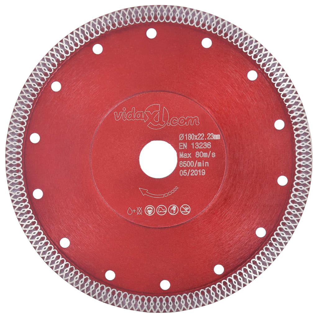 Diamantový řezací kotouč s otvory ocel 180 mm