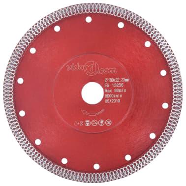 vidaXL Disque de coupe diamanté avec trous Acier 180 mm[1/4]