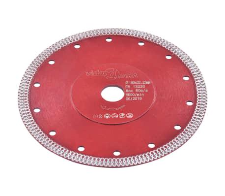 vidaXL Disque de coupe diamanté avec trous Acier 180 mm[2/4]