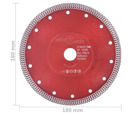 vidaXL Disque de coupe diamanté avec trous Acier 180 mm[4/4]