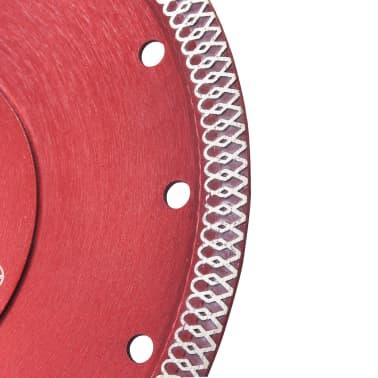 vidaXL Disque de coupe diamanté avec trous Acier 180 mm[3/4]