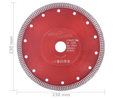 vidaXL Disque de coupe diamanté avec trous Acier 230 mm[4/4]