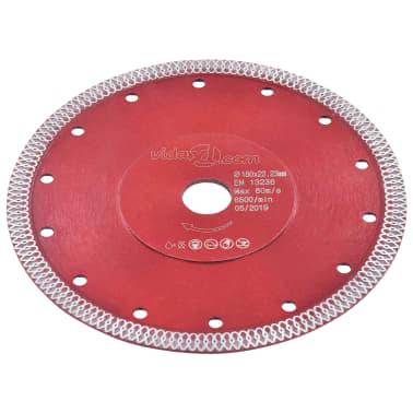 vidaXL Disque de coupe diamanté avec trous Acier 230 mm[2/4]