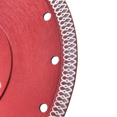 vidaXL Disque de coupe diamanté avec trous Acier 230 mm[3/4]