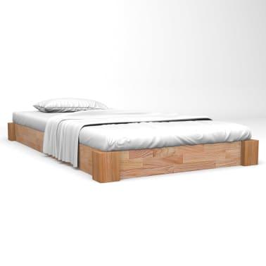 Vidaxl Rama łóżka Z Litego Drewna Dębowego 120 X 200 Cm