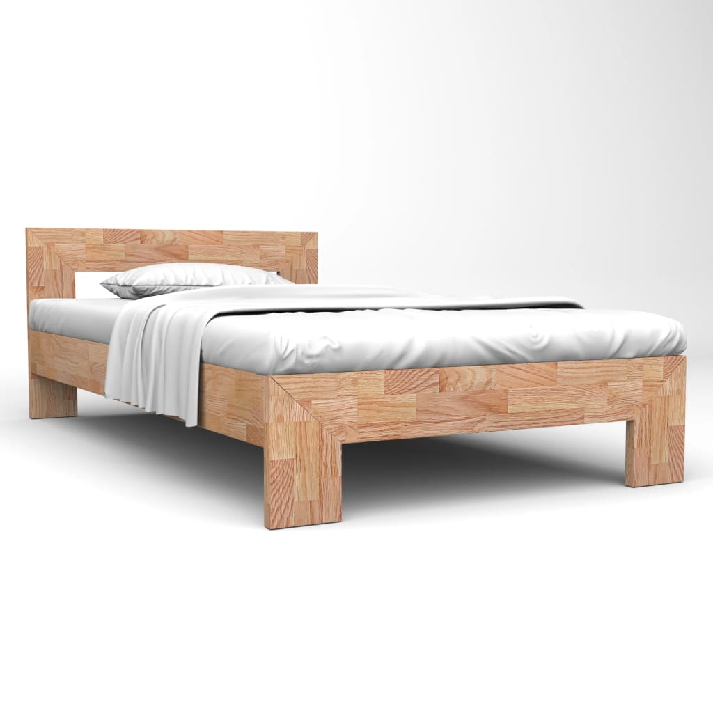 vidaXL Cadru de pat, 140 x 200 cm, lemn masiv de stejar poza 2021 vidaXL