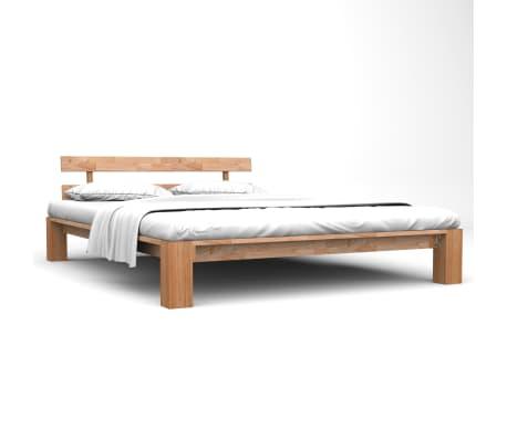 vidaXL Bed Frame Solid Oak Wood 180x200 cm 6FT Super King