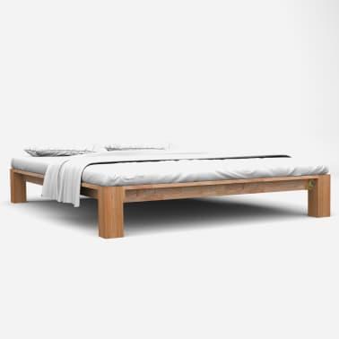 Vidaxl Rama łóżka Z Litego Drewna Dębowego 160 X 200 Cm