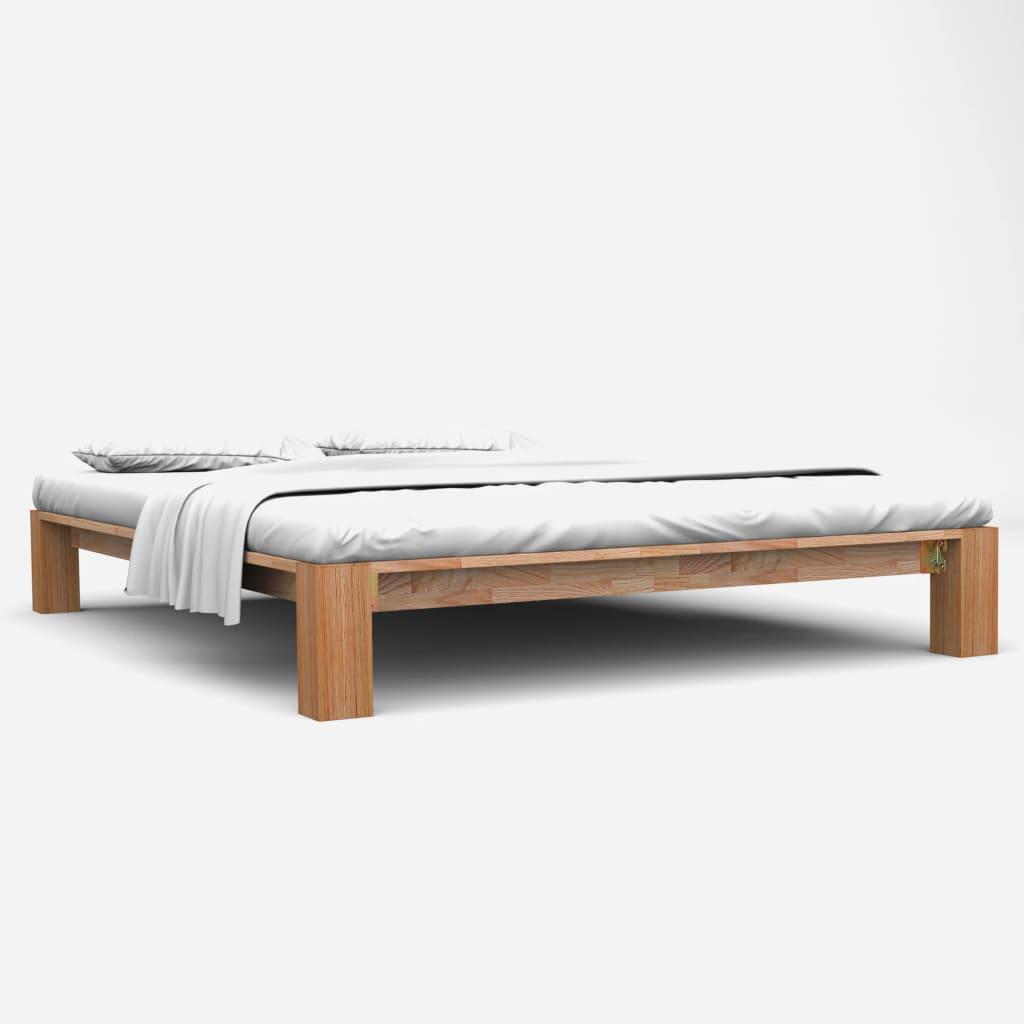 vidaXL Cadru de pat, 180 x 200 cm, lemn masiv de stejar poza 2021 vidaXL