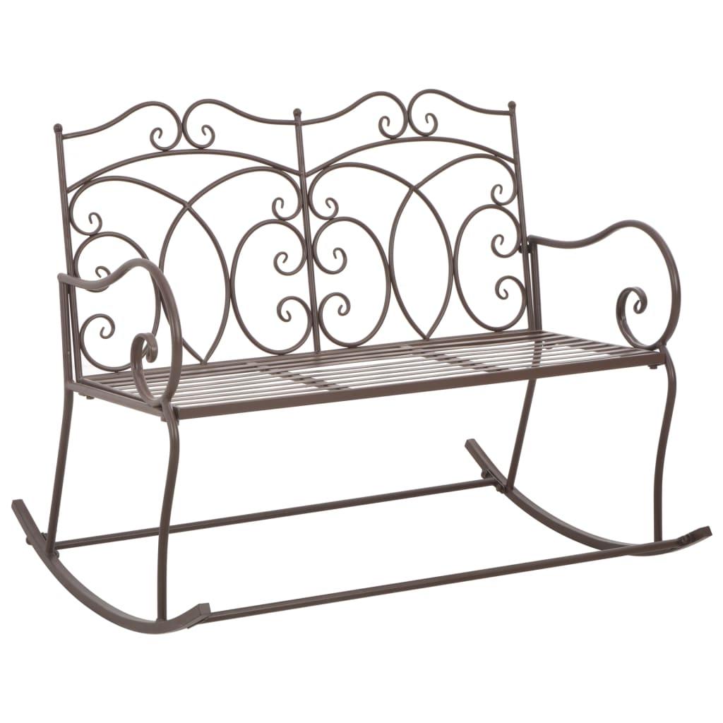 vidaXL Zahradní lavice 104 cm železná starožitná hnědá