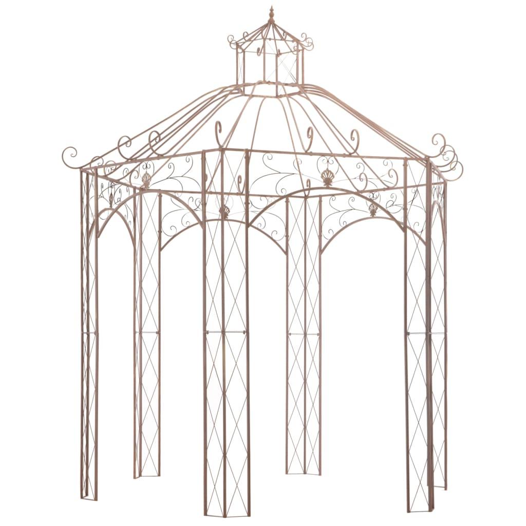 vidaXL Pavilion de grădină, maro antichizat, 3 m, fier poza vidaxl.ro