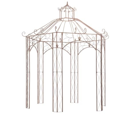 vidaXL Garden Pavilion Antique Brown 3 m Iron