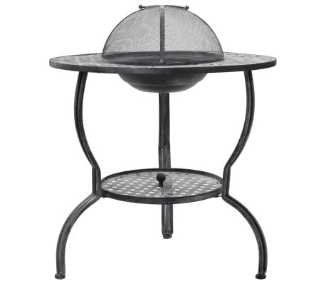 vidaXL Barbacoa de carbón gris antiguo 70x67 cm