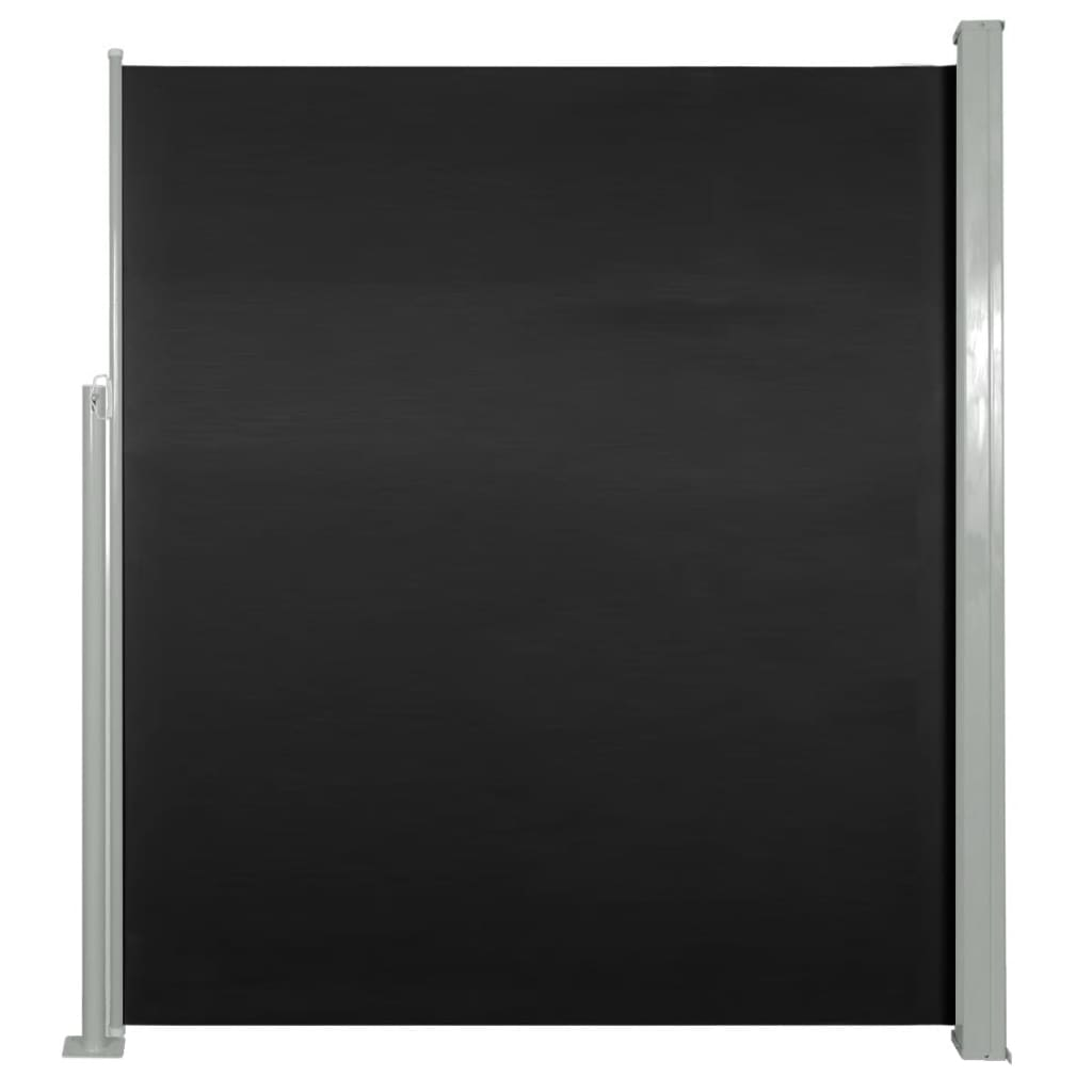 vidaXL Σκίαστρο Πλαϊνό Συρόμενο Μαύρο 160 x 500 εκ.