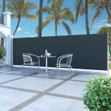 vidaXL Infällbar sidomarkis 160 x 500 cm svart