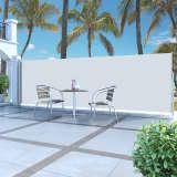 vidaXL sammenrullelig sidemarkise 160 x 500 cm cremefarvet