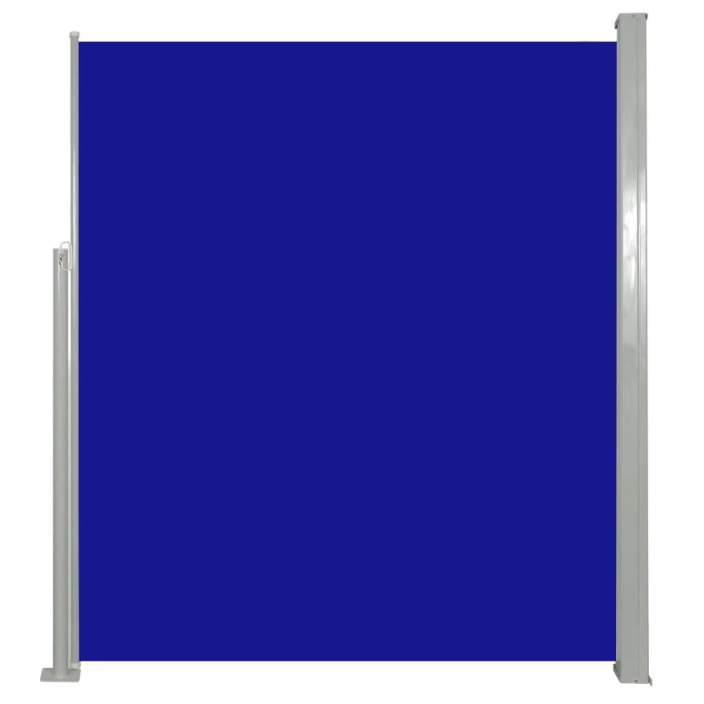 vidaXL Σκίαστρο Πλαϊνό Συρόμενο Μπλε 160 x 500 εκ.