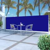 vidaXL sammenrullelig sidemarkise 160 x 500 cm blå