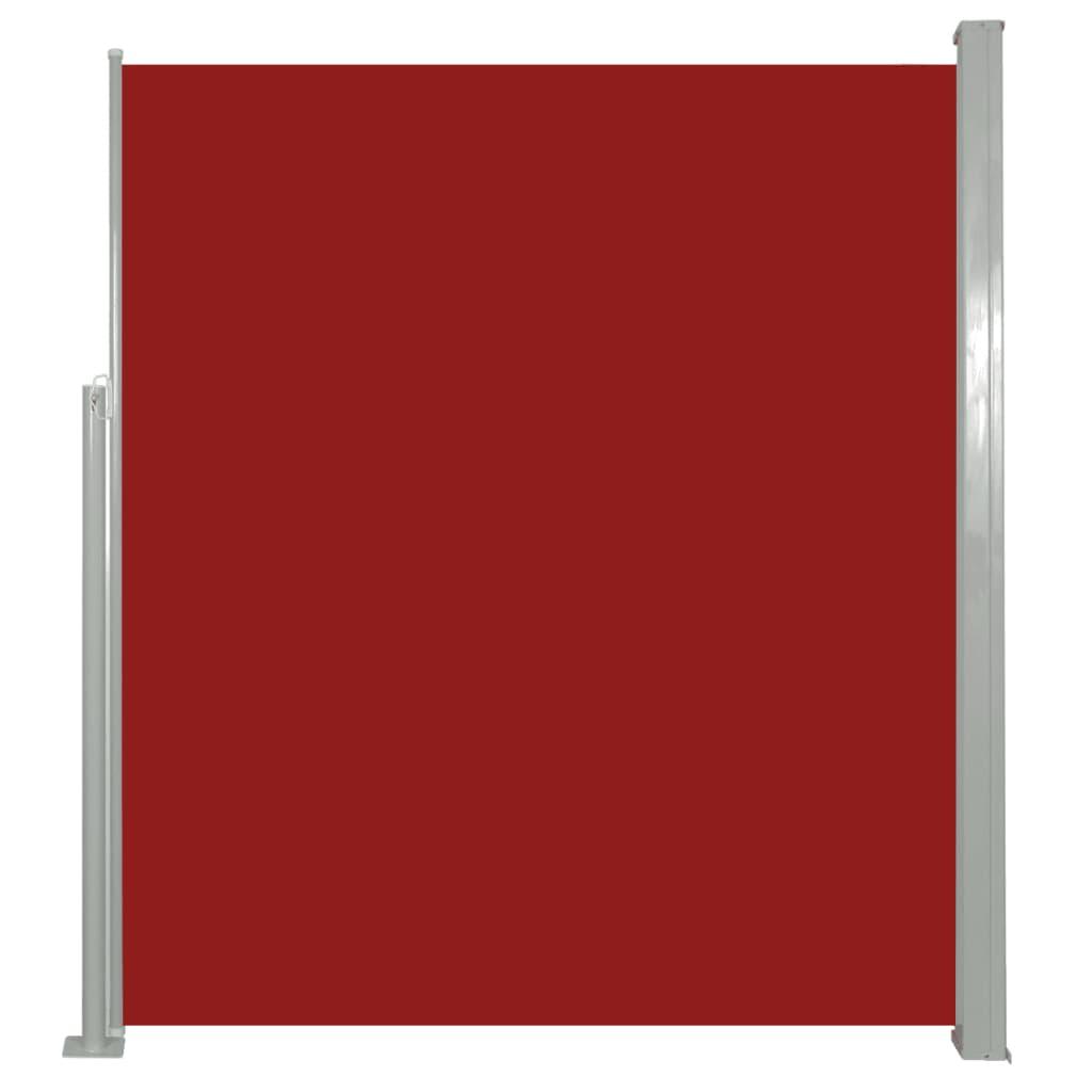 vidaXL Σκίαστρο Πλαϊνό Συρόμενο Κόκκινο 160 x 500 εκ.