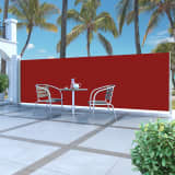 vidaXL Infällbar sidomarkis 160 x 500 cm röd