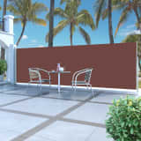 vidaXL Infällbar sidomarkis 160 x 500 cm brun