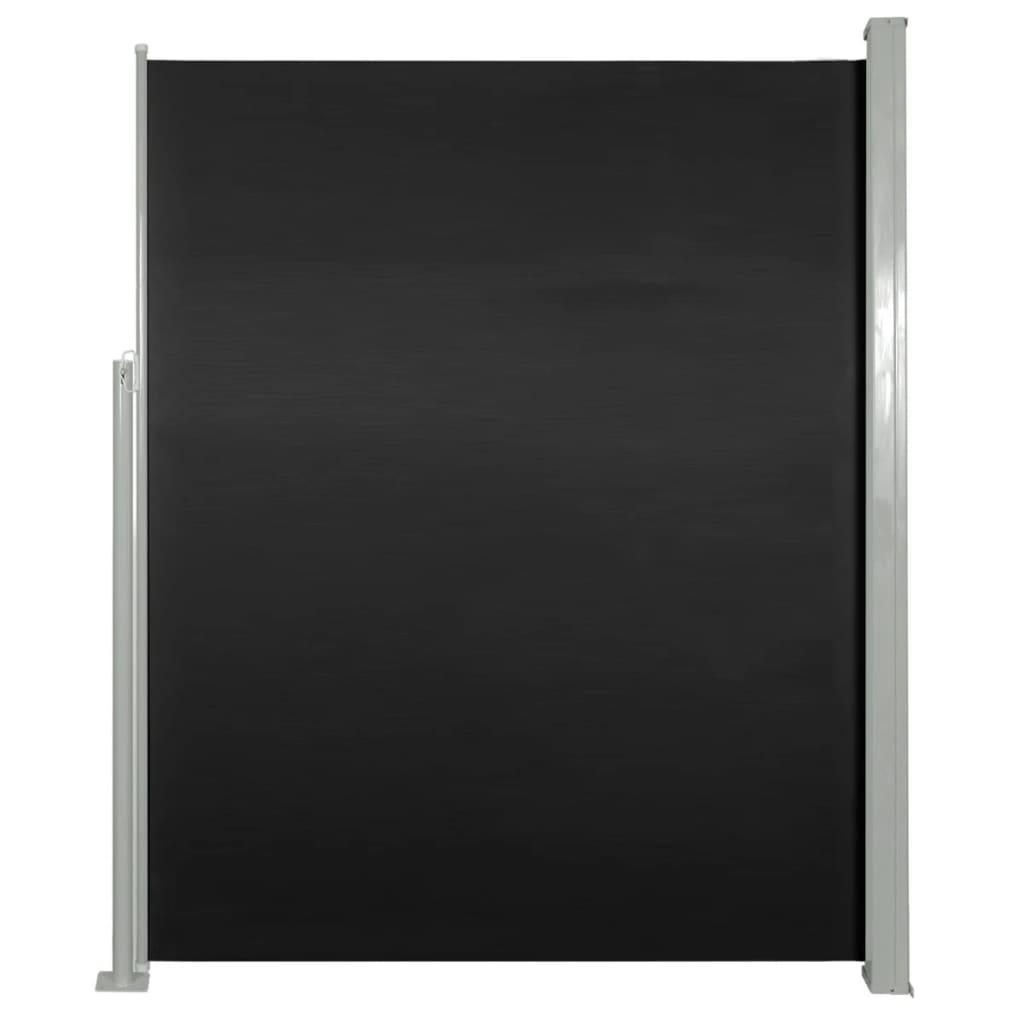 vidaXL Σκίαστρο Πλαϊνό Συρόμενο Μαύρο 180 x 500 εκ.