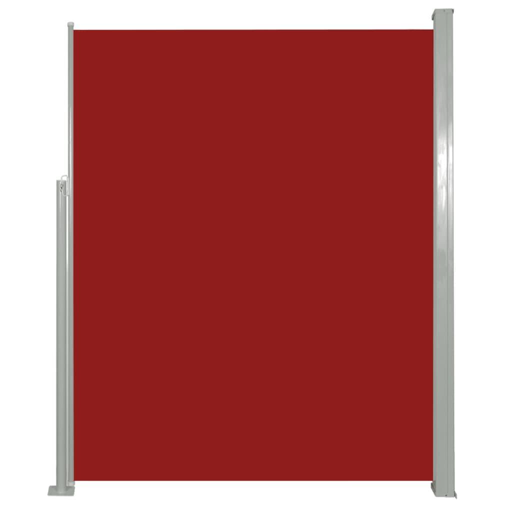vidaXL Σκίαστρο Πλαϊνό Συρόμενο Κόκκινο 180 x 500 εκ.