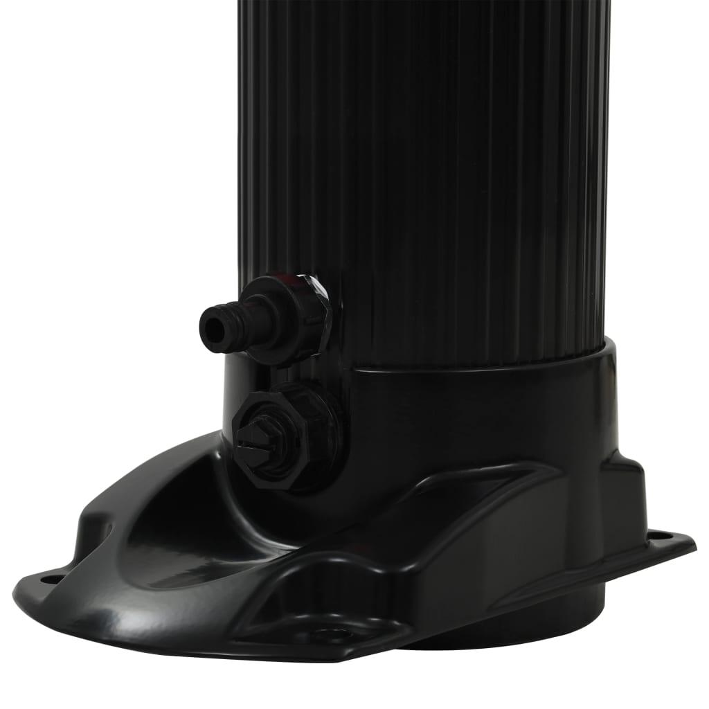 vidaXL Solar douche inklapbaar 23 L 214 cm zwart