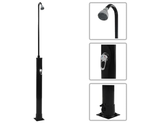 "vidaXL Solar Shower Black 84.3"" 2.4 gal[8/9]"