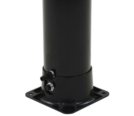 "vidaXL Solar Shower Black 77.2"" 10.6 gal[5/8]"