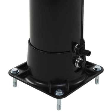 "vidaXL Solar Shower Black 77.2"" 10.6 gal[6/8]"