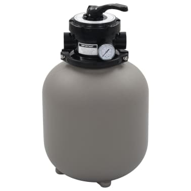 """vidaXL Pool Sand Filter with 4 Position Valve Gray 1.4""""[1/5]"""