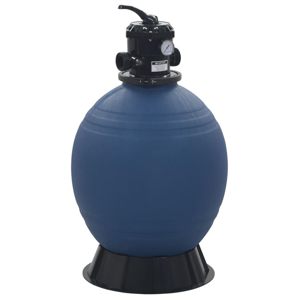 vidaXL Filtru cu nisip pentru piscină supapă 6 poziții albastru 560 mm poza vidaxl.ro