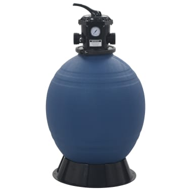 "vidaXL Pool Sand Filter with 6 Position Valve Blue 2.2""[2/5]"