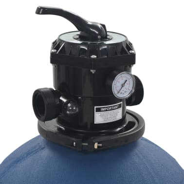 "vidaXL Pool Sand Filter with 6 Position Valve Blue 2.2""[4/5]"