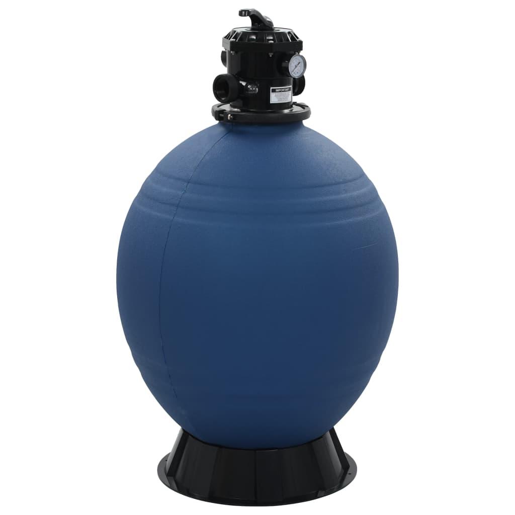 vidaXL Filtru cu nisip pentru piscină supapă 6 poziții albastru 660 mm poza vidaxl.ro
