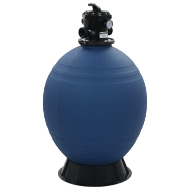 "vidaXL Pool Sand Filter with 6 Position Valve Blue 2.6""[1/7]"