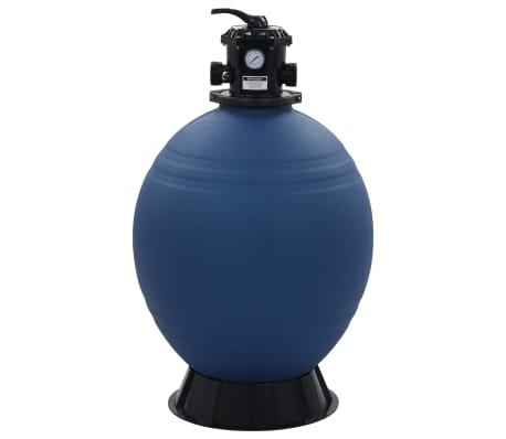 "vidaXL Pool Sand Filter with 6 Position Valve Blue 2.6""[2/7]"