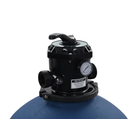 "vidaXL Pool Sand Filter with 6 Position Valve Blue 2.6""[4/7]"