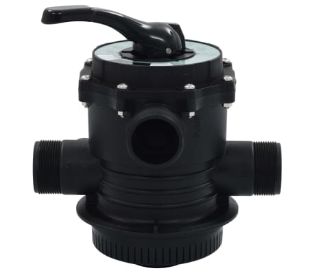 "vidaXL Multiport Valve for Sand Filter ABS 1.5"" 6-way[2/6]"