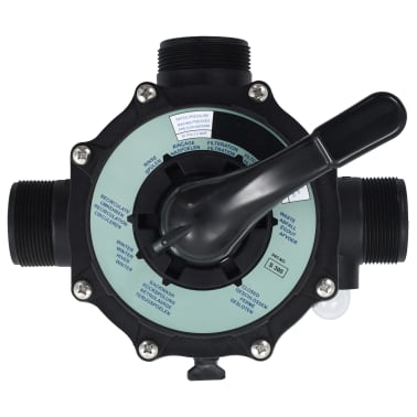 "vidaXL Multiport Valve for Sand Filter ABS 1.5"" 6-way[3/6]"