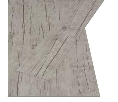 vidaXL selvklæbende gulvbrædder 4,46 m² PVC egetræ afvasket[2/5]