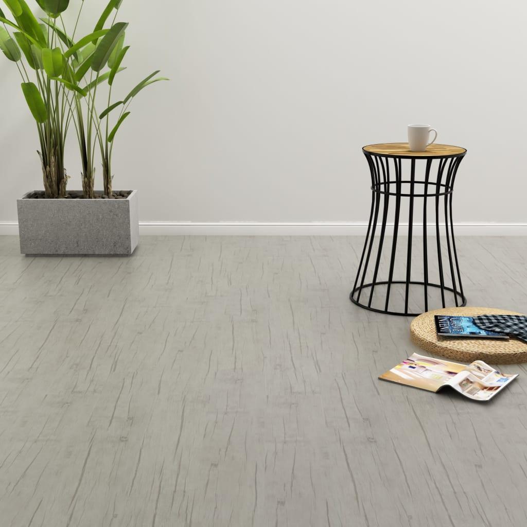 vidaXL Samolepící podlahová prkna 4,46 m² 3 mm PVC dub bělená