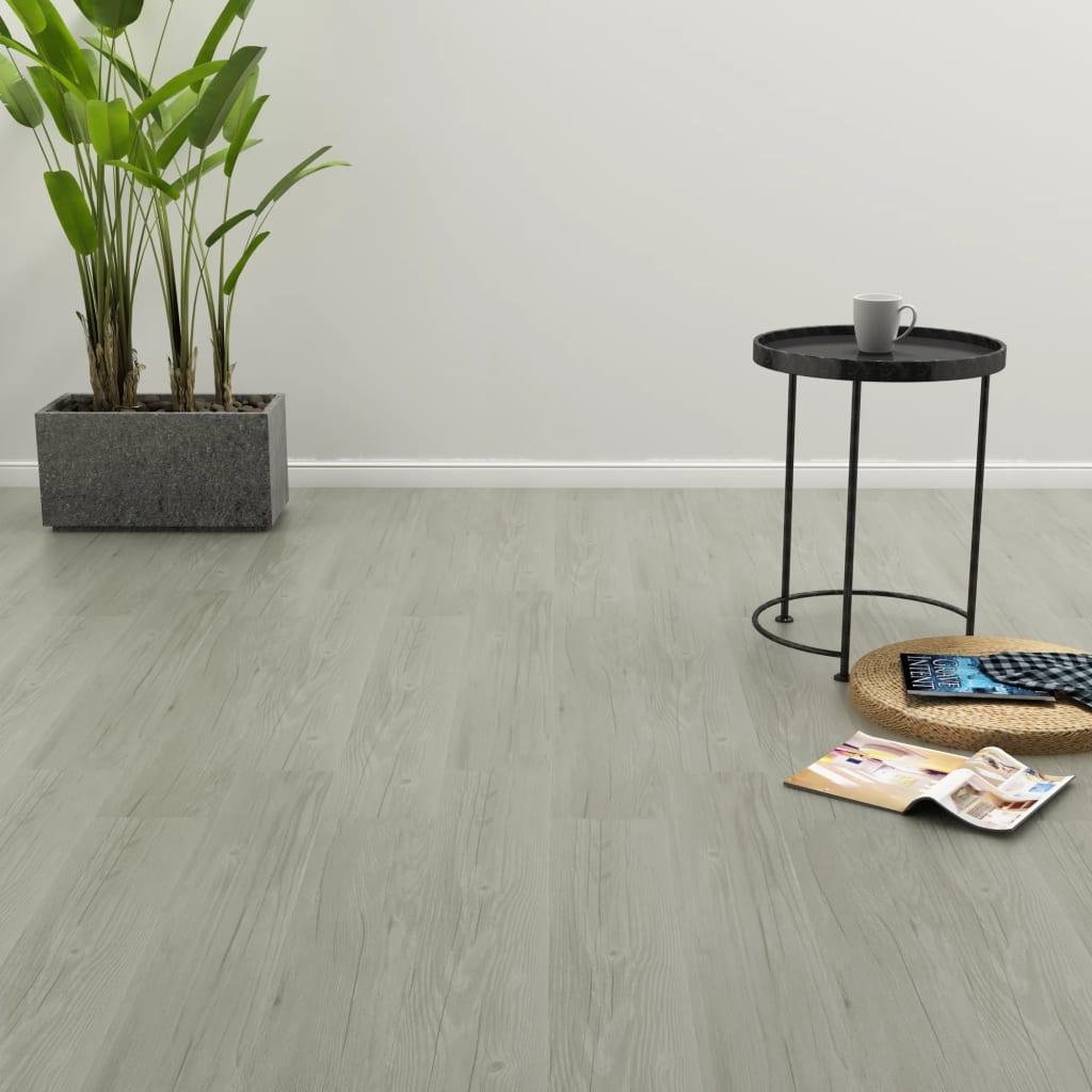 vidaXL Samolepící podlahová prkna 4,46 m² 3 mm PVC šedá