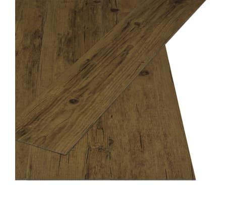 vidaXL Självhäftande golvplankor 4,46 m² 3 mm PVC naturlig brun